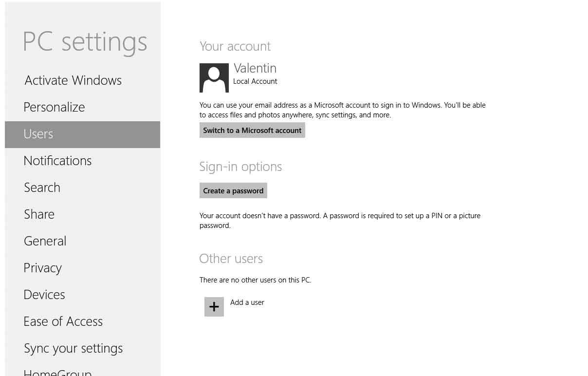 Настройка учетной записи Microsoft